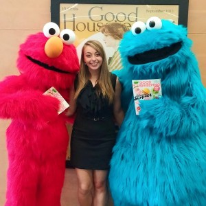 Me with Elmo and Cookie Monster at the GH office!