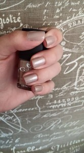 Gabriel Cosmetics nail polish in Marble.