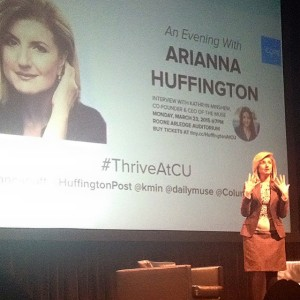 Arianna Huffington speaking about the best ways to avoid burn out!