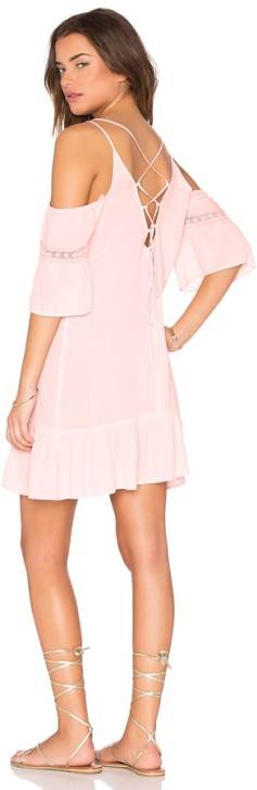 lucca-couture-lace-up-cold-shoulder-pink-dress